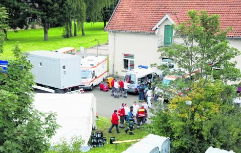242 erschöpfte Flüchtlinge in Bückeburg untergebracht